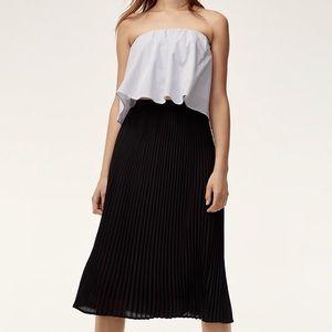 NWOT Aritzia Jude Pleated Midi Skirt